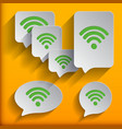 set of six speech wifi bubbles vector image vector image