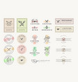 set stickers and labels for food and drink vector image vector image