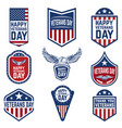 set veterans day emblems usa culture vector image