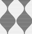 Shades of gray striped bulging waves merging vector image