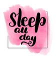 sleep all day vector image vector image