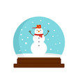 snowman glass ball icon flat style vector image vector image