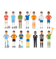 Soccer player football sport athlete characters vector image vector image