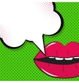 Speech Bubble Pop Art Background On Dot Background vector image vector image