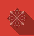 spider web icon with long shadow cobweb sign vector image