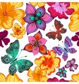 spring repeating floral pattern vector image vector image