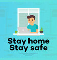 stay home - concept vector image vector image