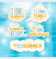 summer badges vector image vector image