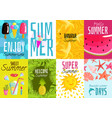 summer posters set vector image