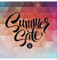 Summer sale The triangular pattern vector image