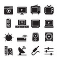 television icon set vector image