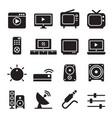 television icon set vector image vector image