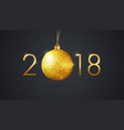 template of a new year black background with a vector image vector image