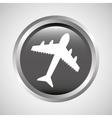 travel concept transport airport plane button vector image
