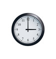 wall clock set at 3 o clock vector image