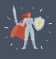 woman in armor with sword vector image