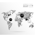 World map background in polygon vector image vector image