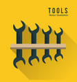 wrench set tool icon repair concept vector image