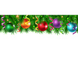 Xmas Border With Golden Stars vector image vector image