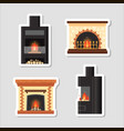 stickers set different colorful home vector image