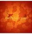 Chinese new year background Floral design vector image