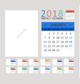 2018 calendar planner design vector image