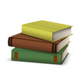 3d hardcover book stack symbol knowledge vector image vector image