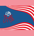 4th july celebration banner greeting card vector image