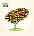 abstract colorful tree geometrical vector image vector image
