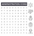 administration line icons signs set vector image vector image