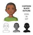 africanhuman race single icon in cartoon style vector image vector image