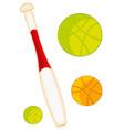 atheletic stock baseball bat vector image