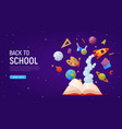 back to school landing page template for sale vector image vector image