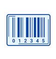 bar code line icon vector image