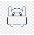 bed concept linear icon isolated on transparent vector image