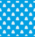 big cake pattern seamless blue vector image vector image