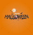 big eyes and halloween banner vector image vector image
