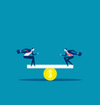 business and money balance concept business vector image