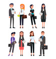 business people male and female formally dressed vector image vector image