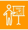 Businessman Showing Project Sketch vector image vector image