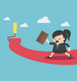 businesswoman walks her path to success with vector image vector image