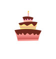 cake icon sweet holidays happy birthday vector image