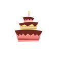 Cake icon sweet holidays happy birthday