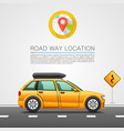 car travel on the location vector image