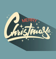 christmas hand drawn lettering retro xmas vector image vector image