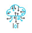 cloud iot internet things icon vector image
