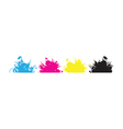 cmyk splashes vector image