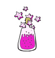 comic cartoon magic potion vector image vector image