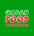 creative banner green food green font vector image vector image