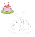 Educational game connect the dots to draw cartoon vector image vector image